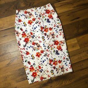 Express Floral Pencil Skirt.